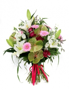 Anthurium And Lily Bouque