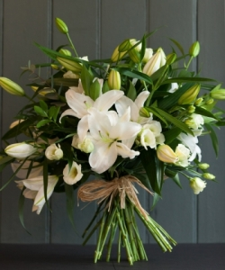 The White Lily Bouquet