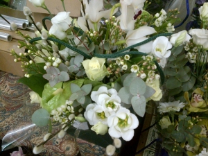 White & Green Hand Tied