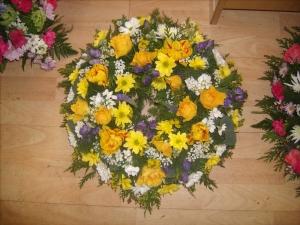 Mauve & Yellow Wreath