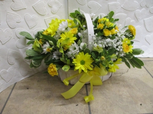 Yellow & White Basket