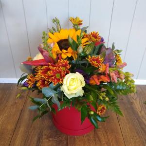 Autumn Flower Hat Box