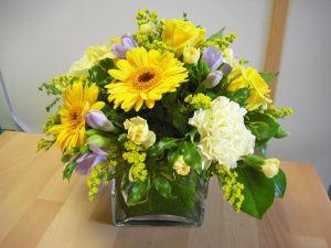 Arrangement In Glass Vase