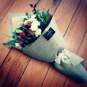 Bouquet In Hessian