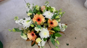 Apricot And White Bouquet