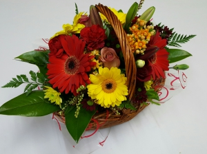 Bright Floral Basket