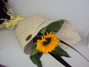 Sunflower In Flax Wrap