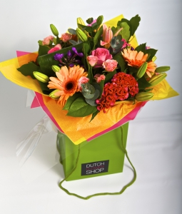 Colorful Bouquet In Bag