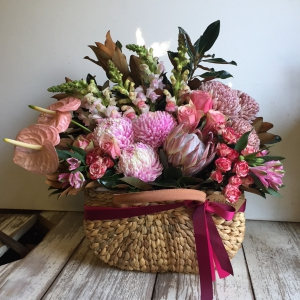 Pink Market Basket