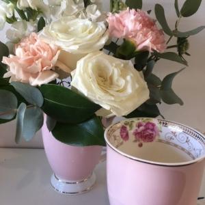 Pretty Pink Posy In A Mug