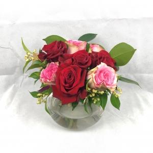 Rose Fish Bowl