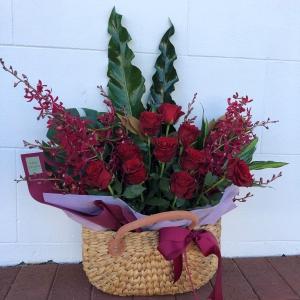 Red Rose Market Basket