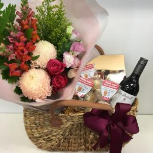 Flowers + Food Basket