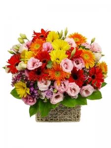 Mixed Flower Basket-01