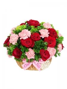 Rose & Carnation Basket