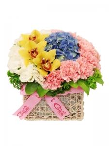 Mixed Flower Basket-02
