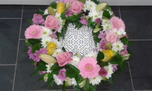 Wreath In Pink & White