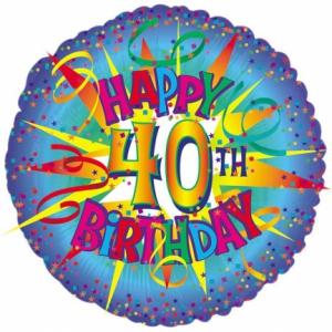 40th Foil Balloon
