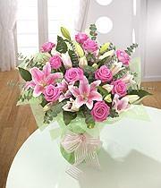 Pink Rose & Pink Lily
