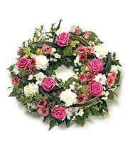 Pink & White Open Wreath