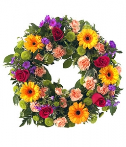 Bright  Open Wreath