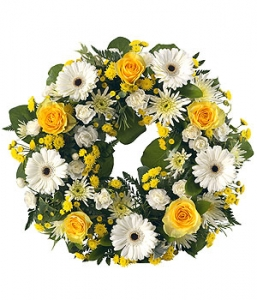 Yellow, White Open Wreath