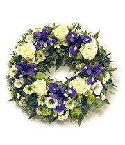 Blue & White Open Wreath