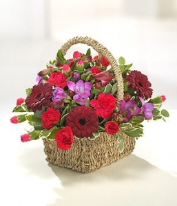 Red & Pink Basket