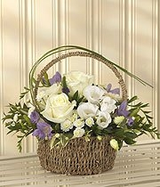 Lavender & White Basket