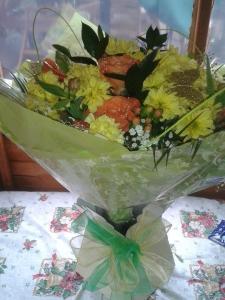 Boxed Aqua Bouquet