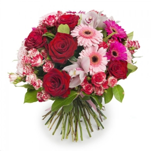 Bouquet Red And Pink