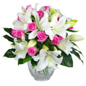 Bouquet Of White And Pink