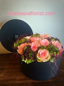 Rose And Hydrangea Hatbox