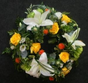 Modern Funeral Wreath