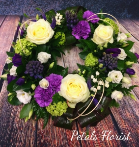 Round Wreath Purple