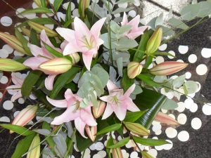 Lily And Foliage Hand-tie