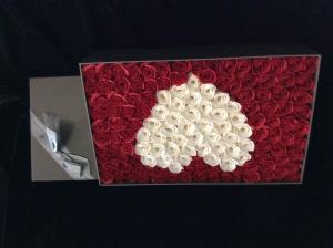 Soap Rose White Heart