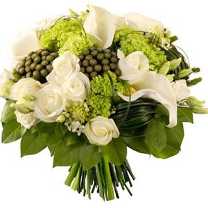 Bouquet Rond Banc-vert