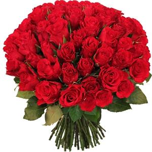 Bouquet Rond Roses Rouges