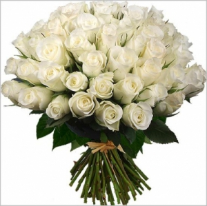 Bouquet Rond Roses Blanc