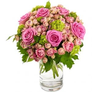 Bouquet Rond Avec Vase