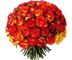 Bouquet Rond Roses Orange