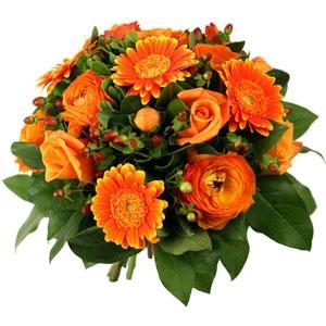 Bouquet Rond Orange