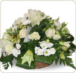 Corbeille Fleurs Blanches