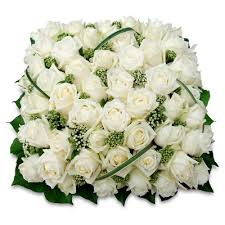 Coussin Roses Blanches