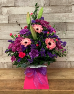 Flowers In A Gift Box