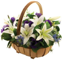 Blue & White Basket