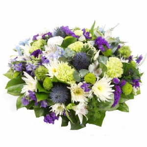 Purple, Lime & White Posy