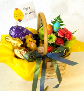 Easter Egg Flower Basket