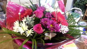 Pink Pampered Hand Tied